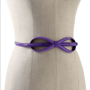 White House Black Market Iris Elongated Bow Belt